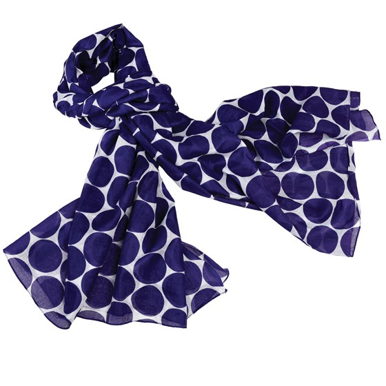 indigo spot cotton scarf