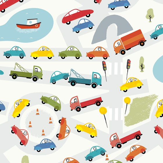 TRAFFIC JAM WRAPPING PAPER