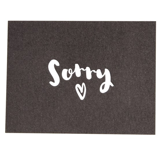 sorry card
