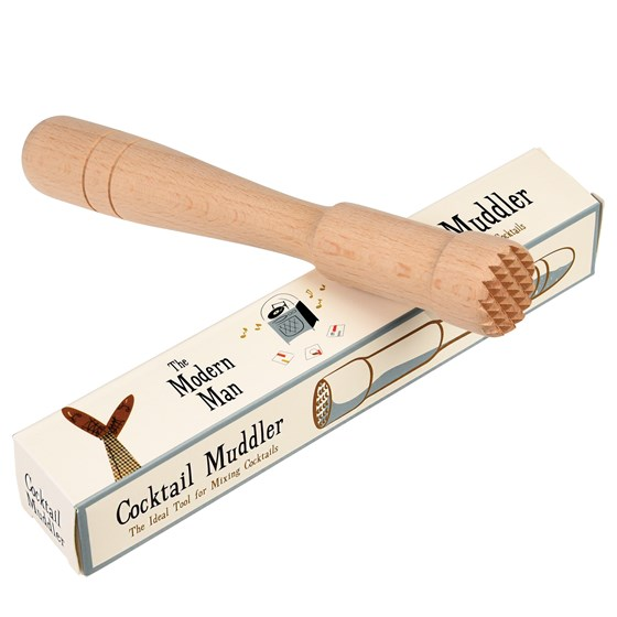 modern man wooden muddler