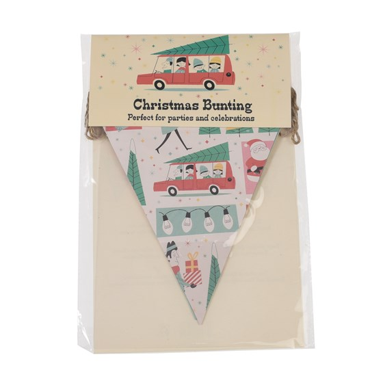 festive family christmas bunting
