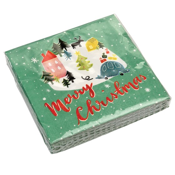 CHRISTMAS WONDERLAND NAPKINS (PACK OF 20)