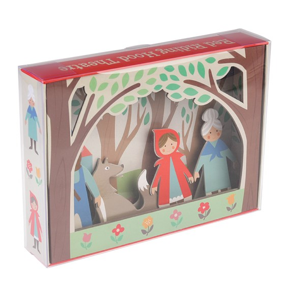 red riding hood puppet theatre set