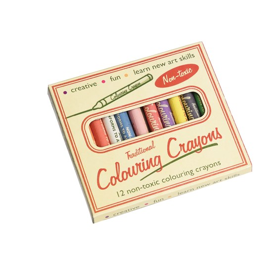 set of 12 traditional crayons