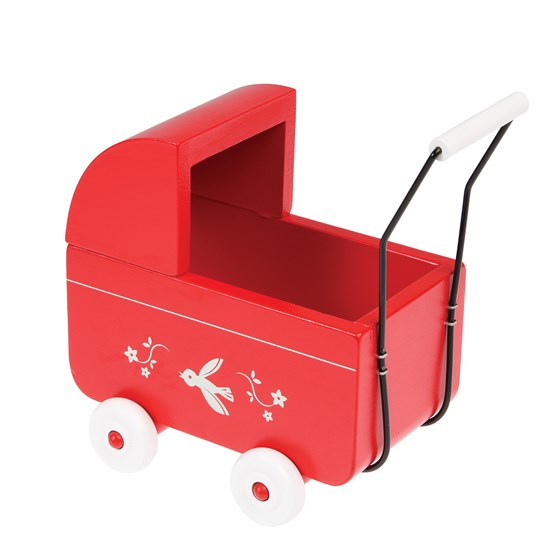 mini wooden pram in box