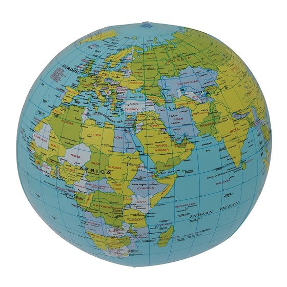 inflatable world globe