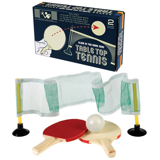 "mini-tischtennis-set ""glow in the dark"""