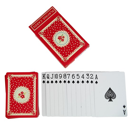 playing cards vintage doily