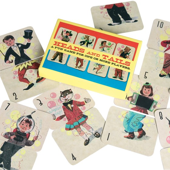 VINTAGE HEADS AND TAILS CARD GAME