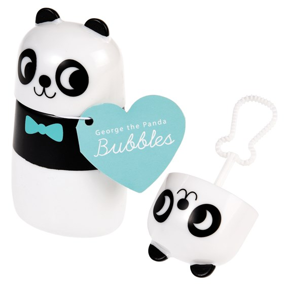 george the panda bubbles
