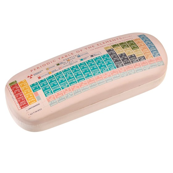 periodic table glasses case with cleaning cloth