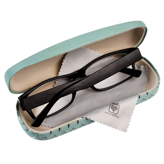 departure lounge glasses case & cleaning cloth