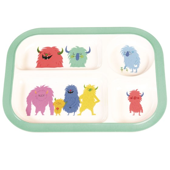 MONSTERS OF THE WORLD MELAMINE TRAY