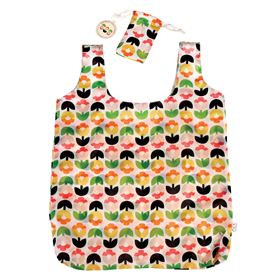 tulip bloom foldaway shopping bag