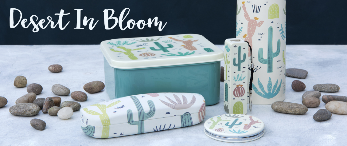 Desert in Bloom cactus printed range of gifts for women