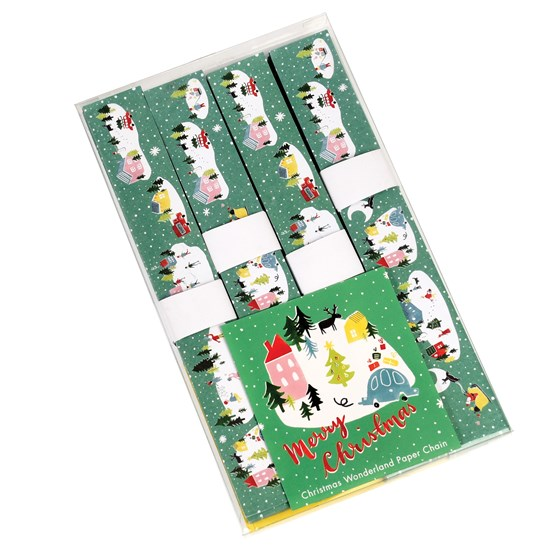 dekorative papierkette christmas wonderland