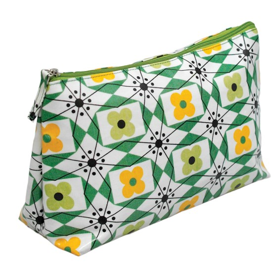 mid century floral wash bag