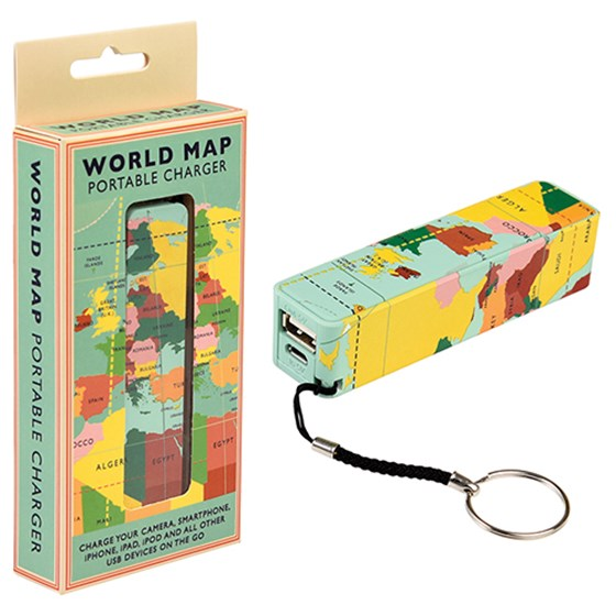 "batterie portable ""world map"""
