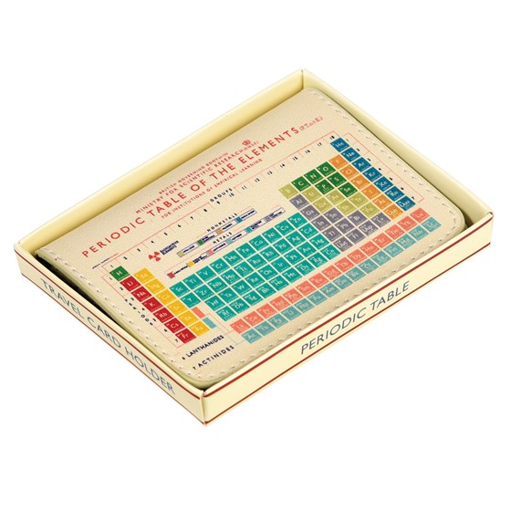 periodic table travel card holder