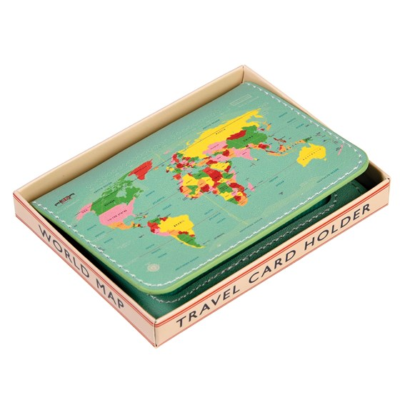 "porte-cartes de voyage ""world map"""