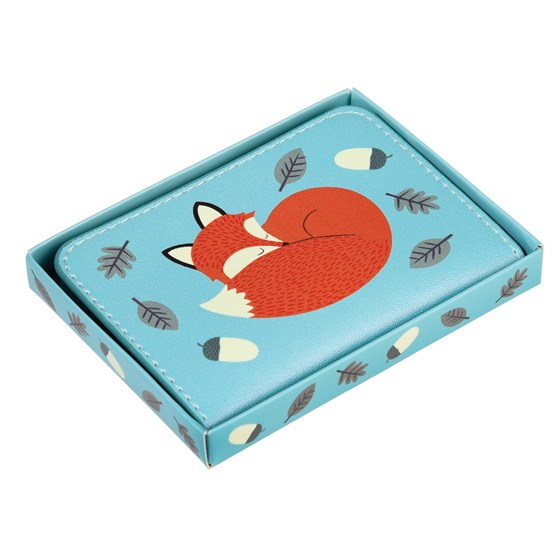 rusty the fox travel card holder