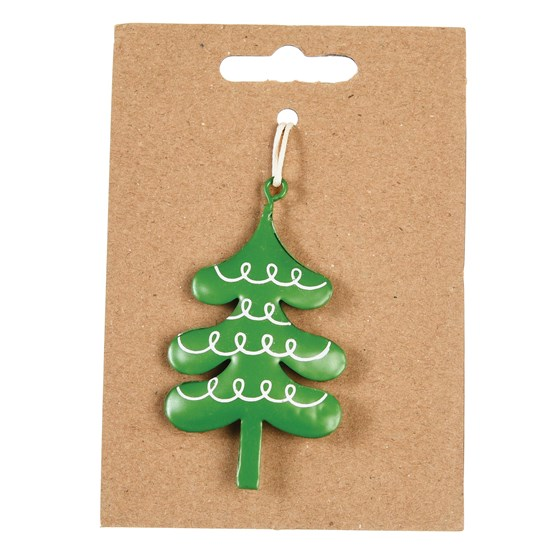 christmas tree metal decoration