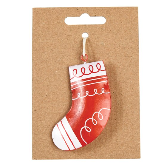 christmas stocking metal decoration