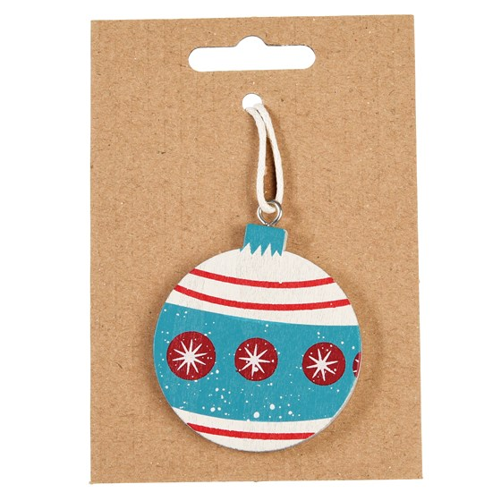 white bauble wooden decoration