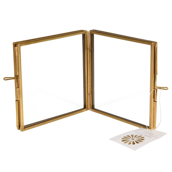 brass 4 sided square photo frame