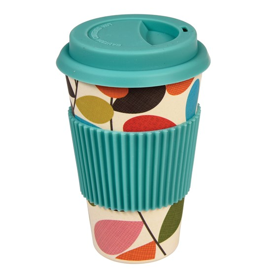 coffee-to-go-becher aus bambus im vintage ivy - design