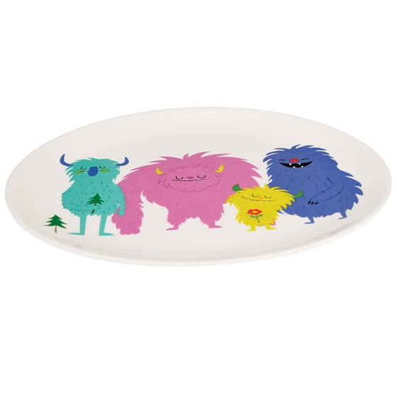 monsters of the world melamine plate
