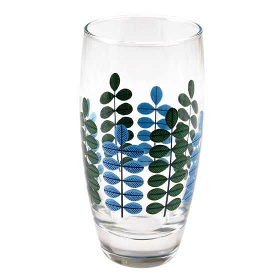 leaf drinking glass