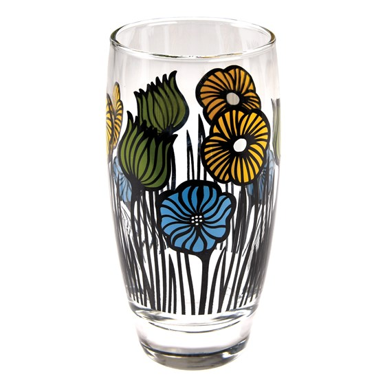 GARDEN FLOWER DRINKING GLASS