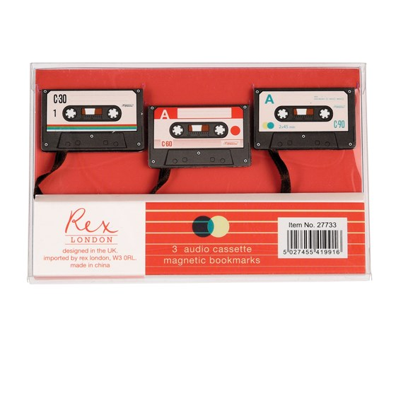 cassette tape bookmark (set of 3)