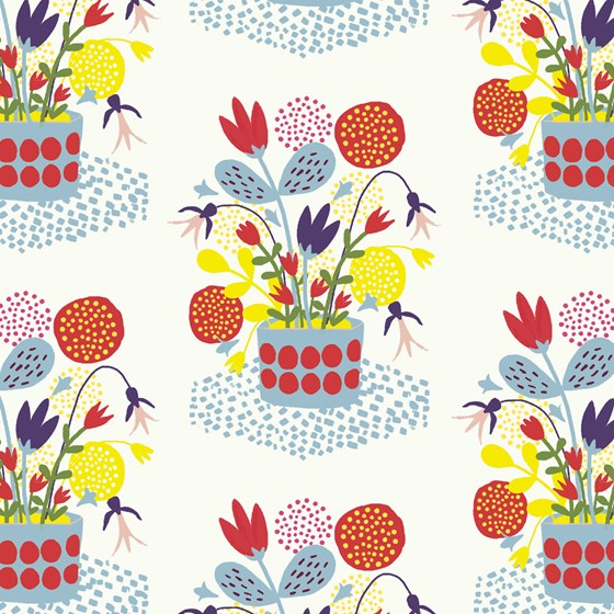 FLOWER POT WRAPPING PAPER