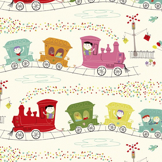 "papier d'emballage ""party train"""
