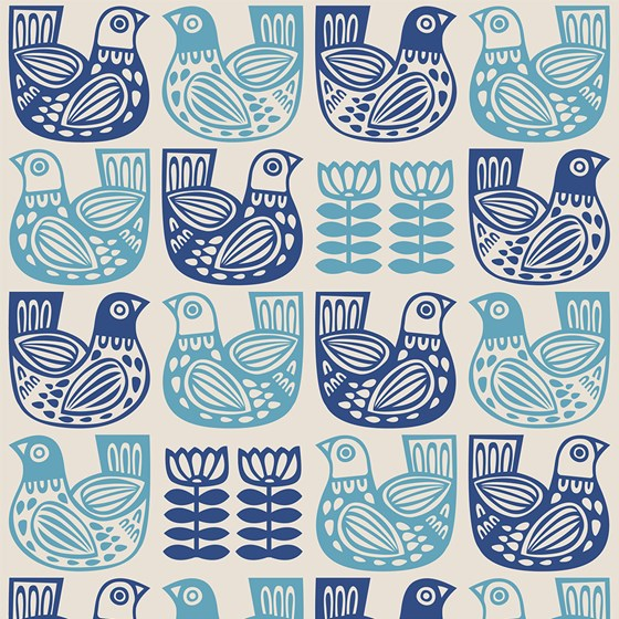 FOLK BIRD WRAPPING PAPER