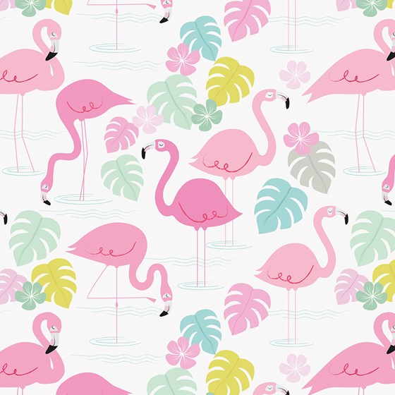 "papier d'emballage ""flamingo bay"""