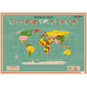 world map wrapping paper