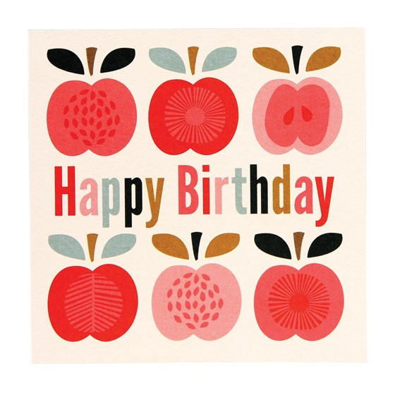 VINTAGE APPLE BIRTHDAY CARD
