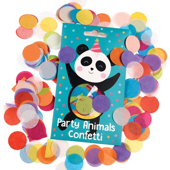 party animals paper confetti