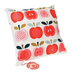 vintage apple cushion with pad