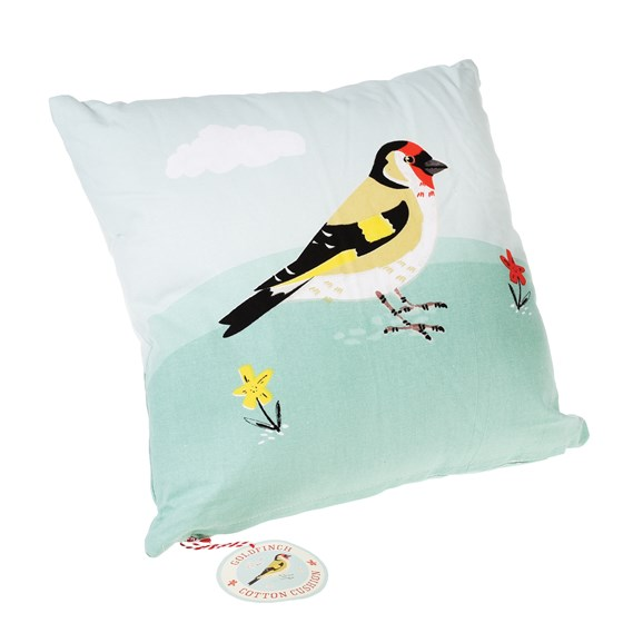 goldfinch cushion with pad
