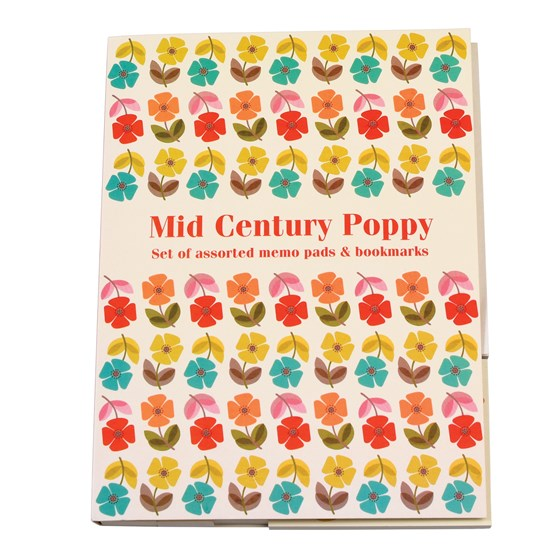 "blocs-notes adhesif ""mid century poppy"""