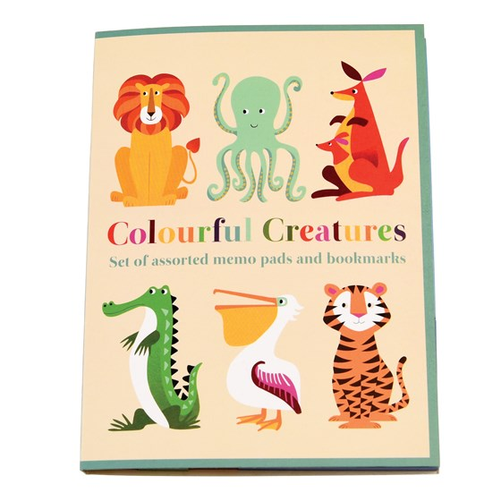 "memo pads ""colourful creatures"""