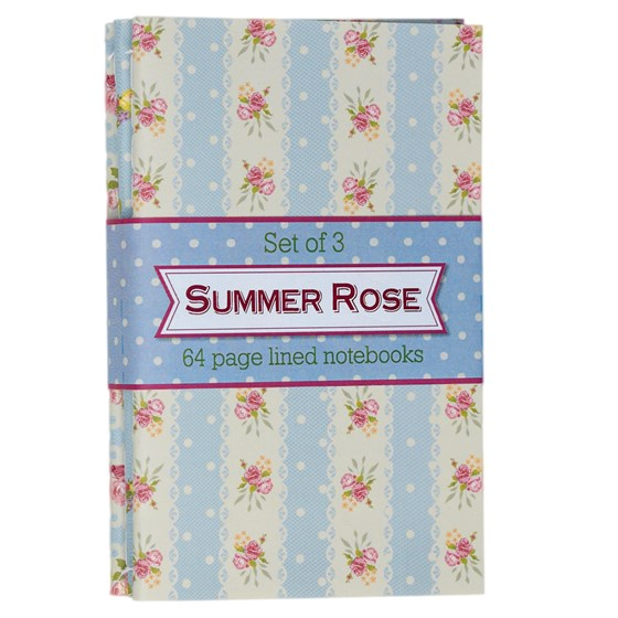 set of 3 rose notebooks