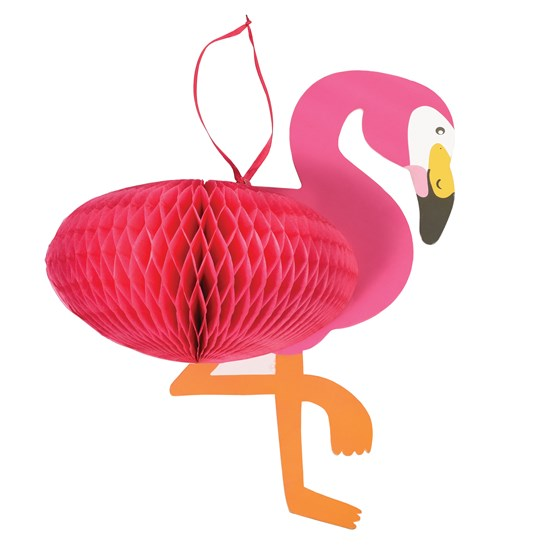 flamingo honeycomb decoration