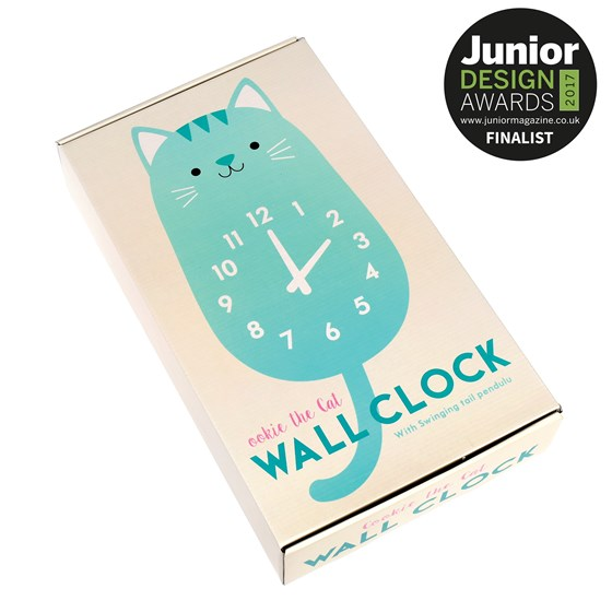 cookie the cat wooden wall clock