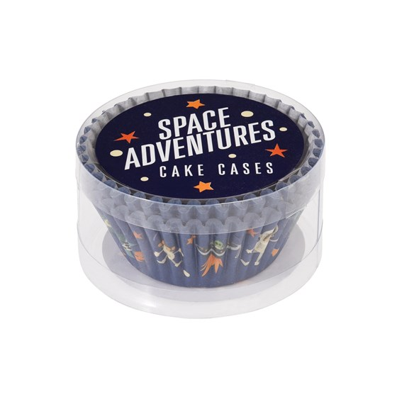 set 50 cupcake cases space adventure