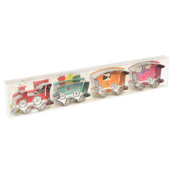 set 4 train cookie cutter set